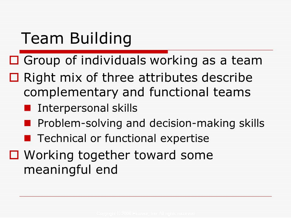 Team Building Group of individuals working as a team