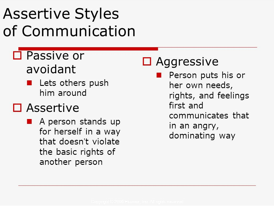 Assertive Styles of Communication