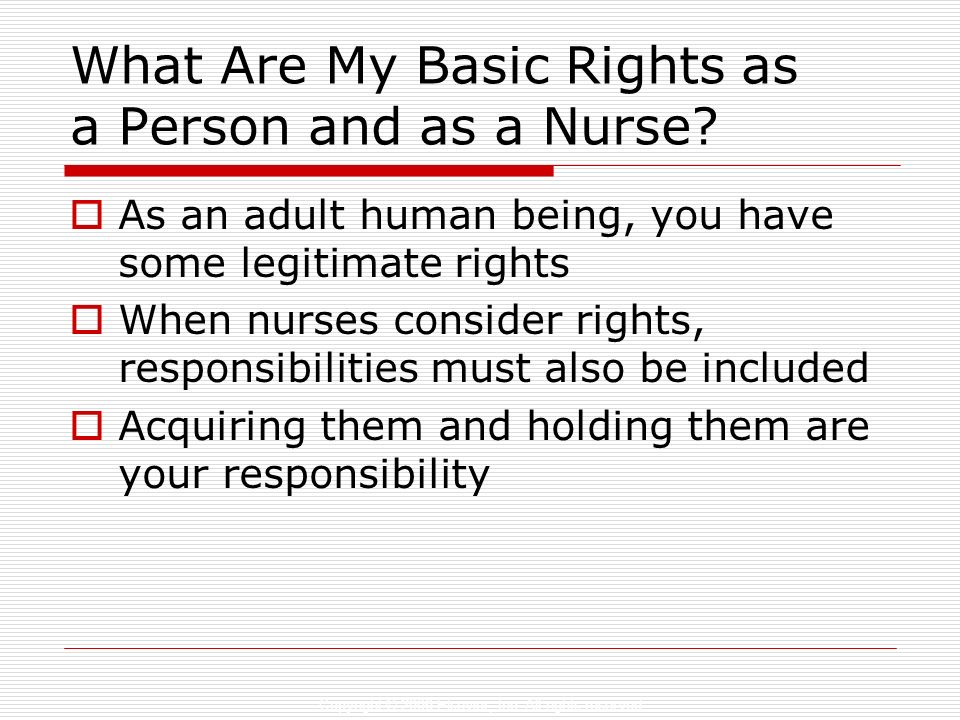 What Are My Basic Rights as a Person and as a Nurse