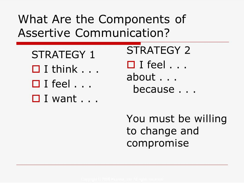 What Are the Components of Assertive Communication