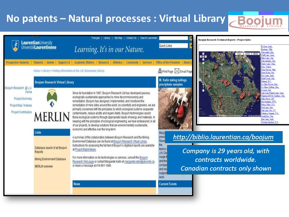 No patents – Natural processes : Virtual Library