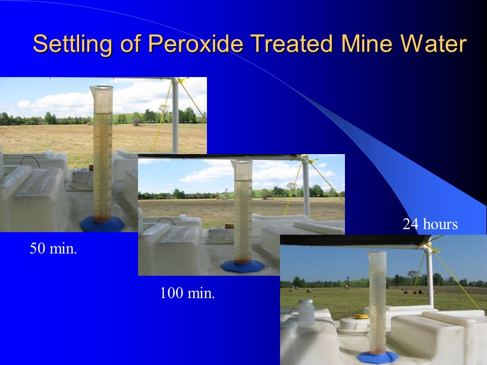 Settling of Peroxide Treated Mine Water