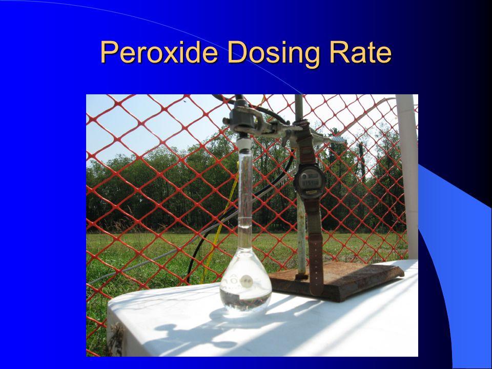 Peroxide Dosing Rate