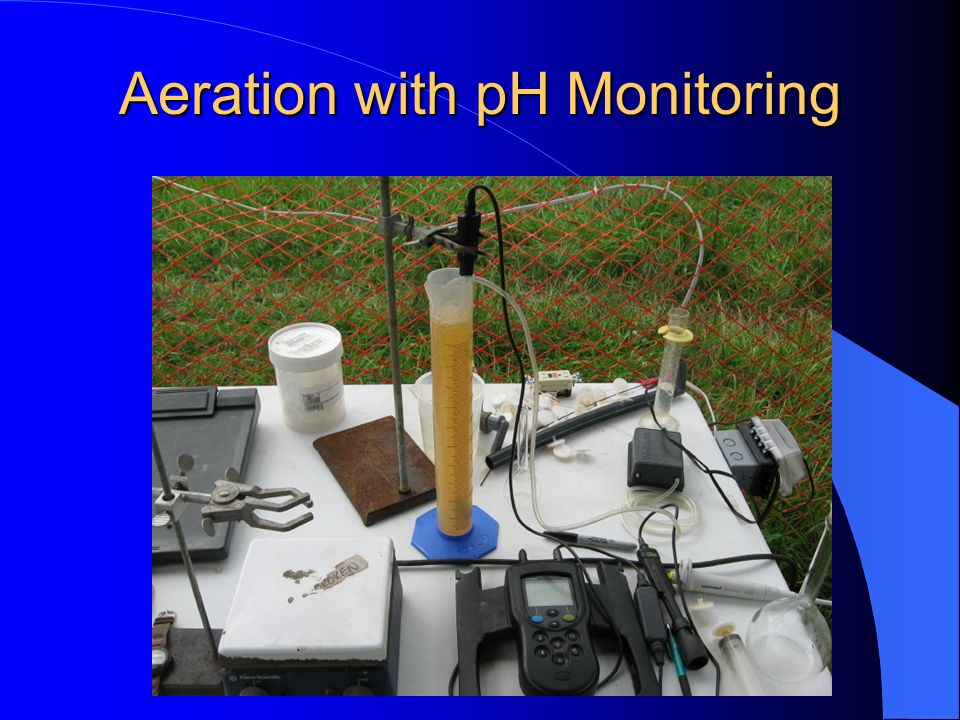 Aeration with pH Monitoring