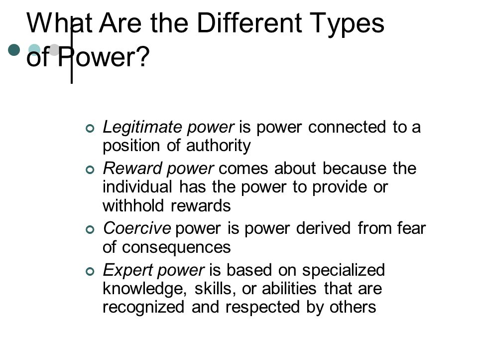 What Are the Different Types of Power
