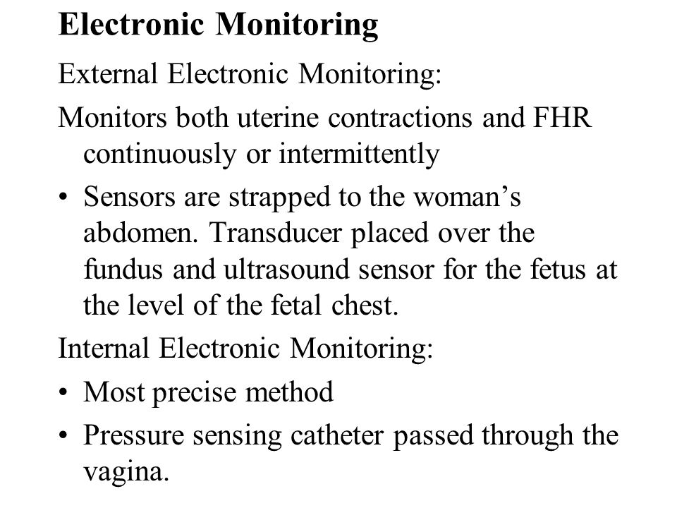 Electronic Monitoring