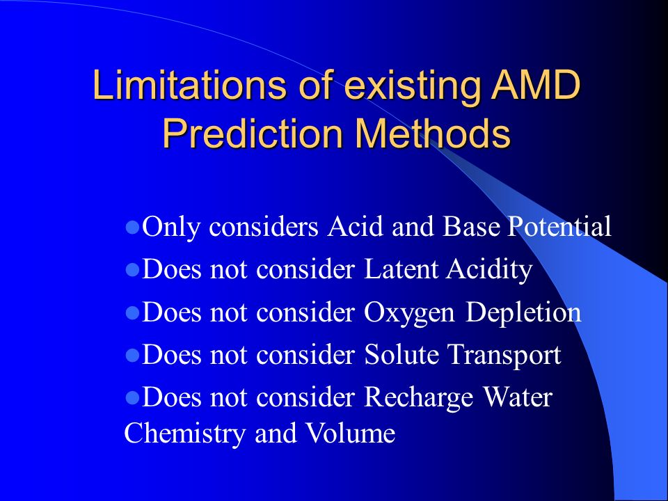 Limitations of existing AMD Prediction Methods