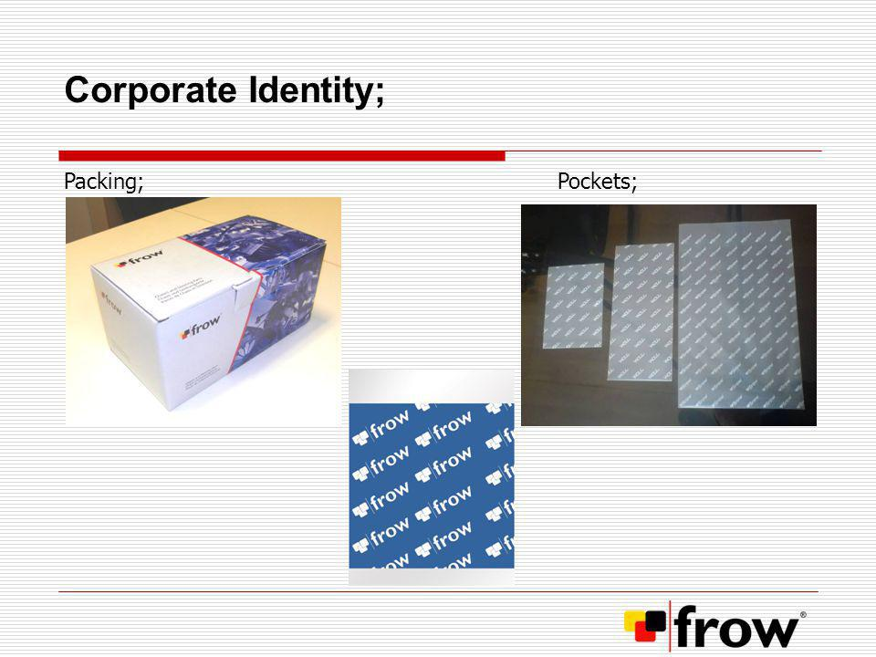 Corporate Identity; Packing; Pockets;