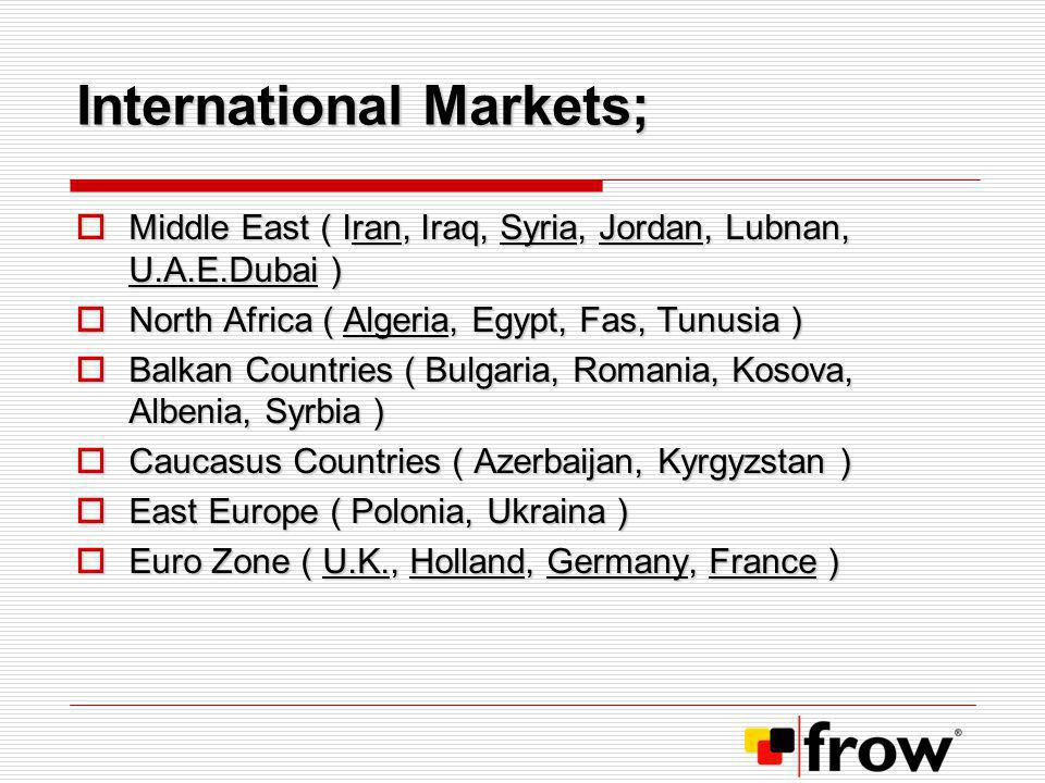 International Markets;
