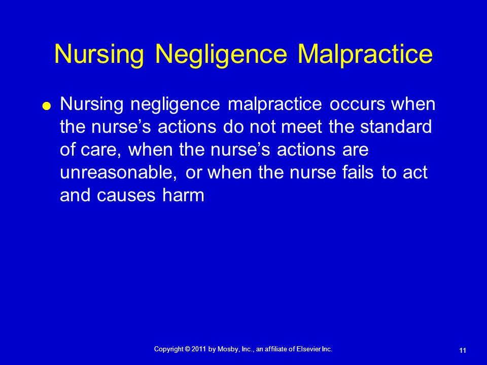 Nursing Negligence Malpractice
