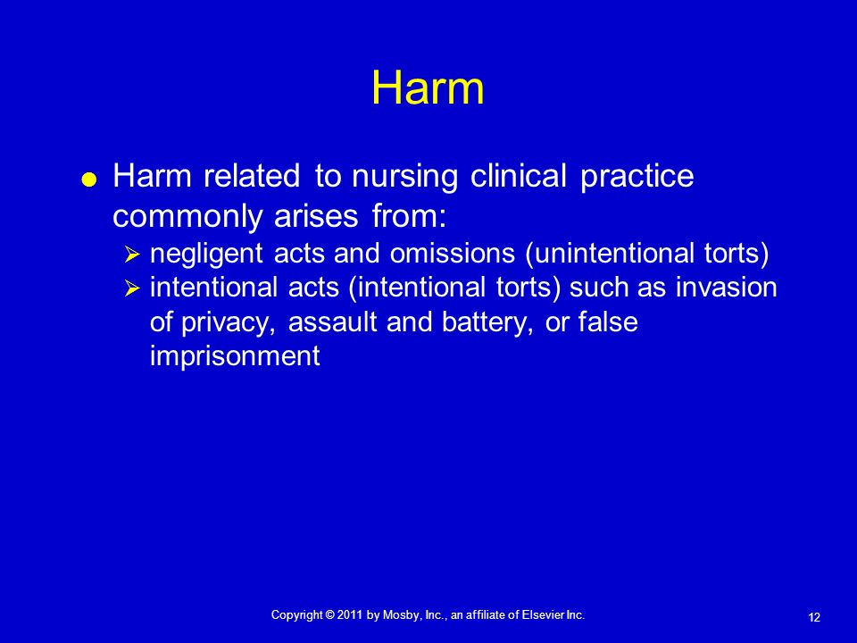 Harm Harm related to nursing clinical practice commonly arises from: