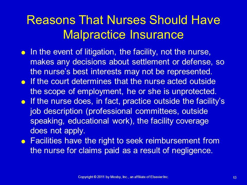 Reasons That Nurses Should Have Malpractice Insurance