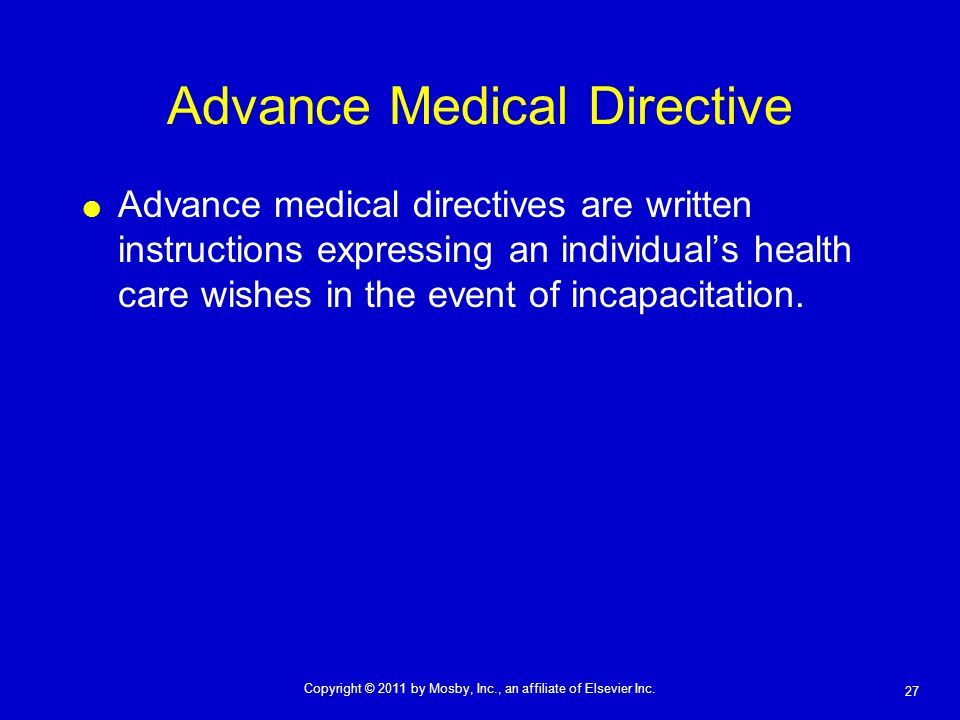 Advance Medical Directive