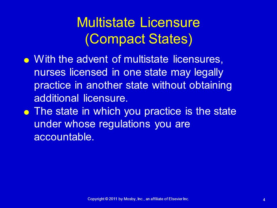 Multistate Licensure (Compact States)