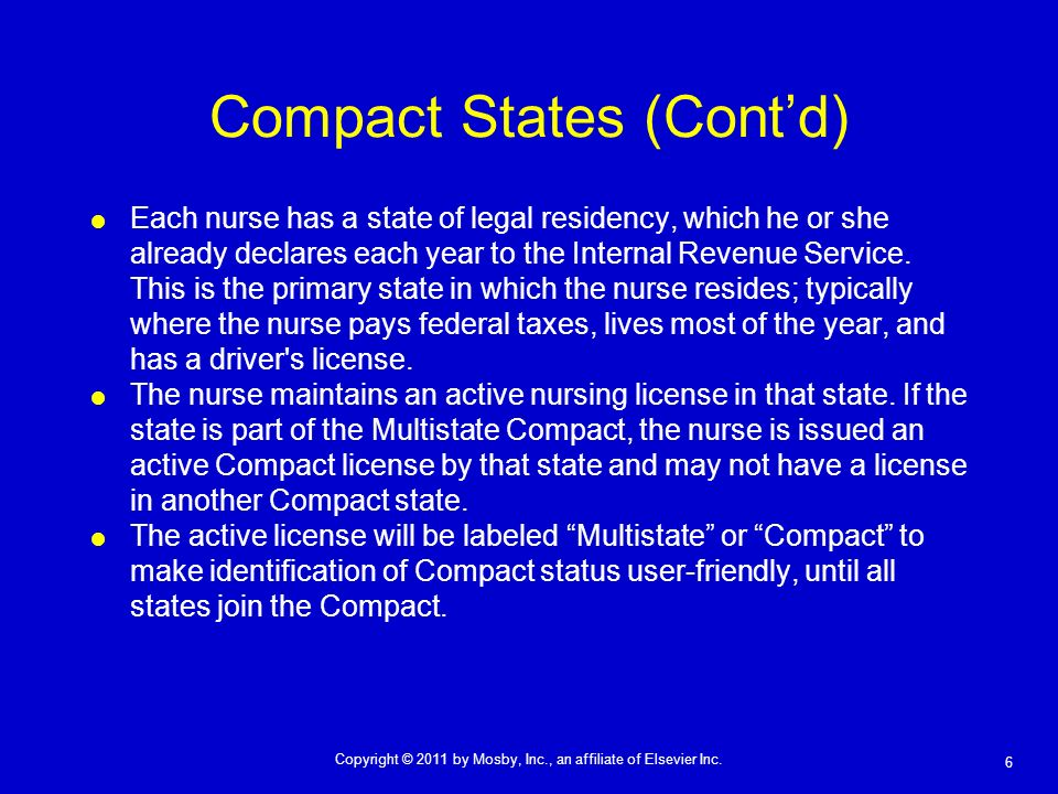 Compact States (Cont'd)