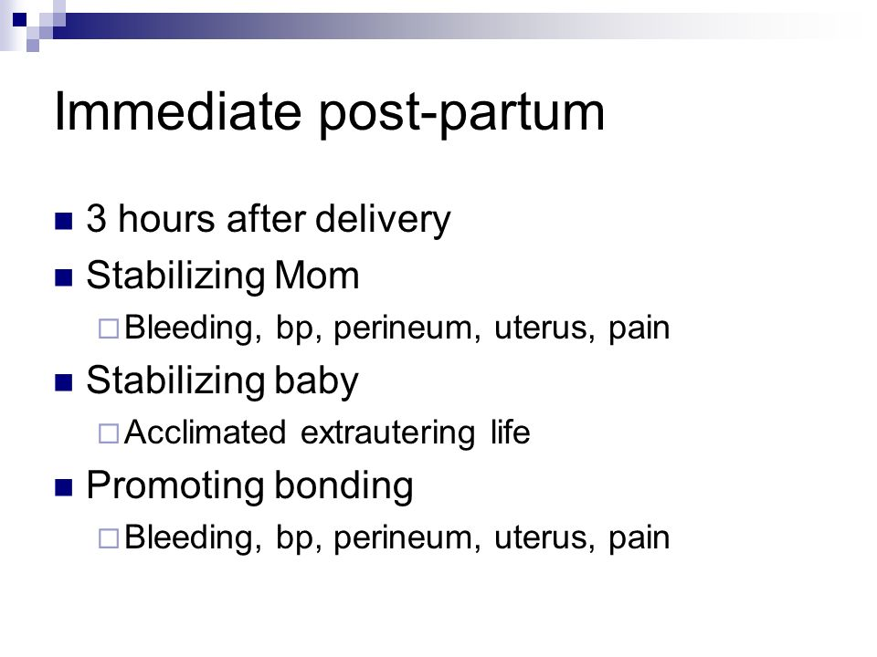 Immediate post-partum