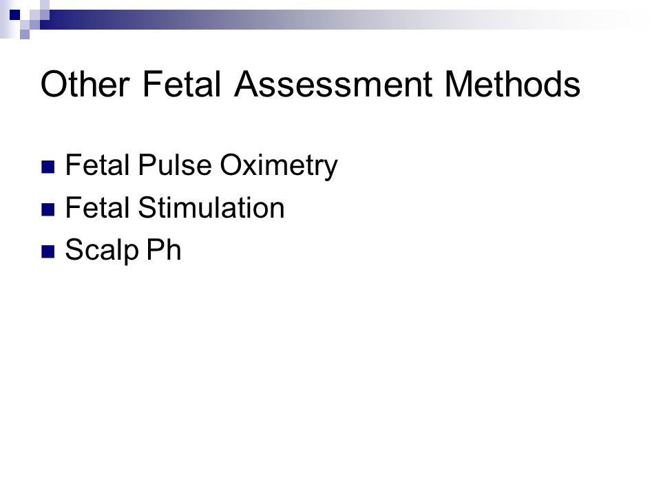 Other Fetal Assessment Methods