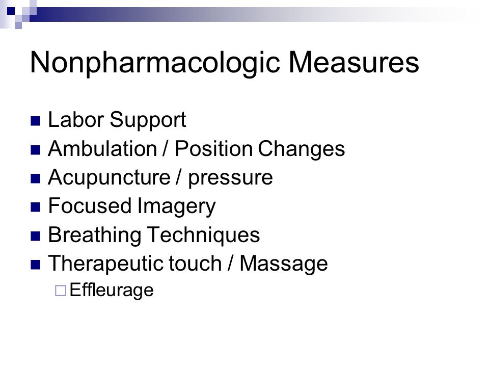 Nonpharmacologic Measures