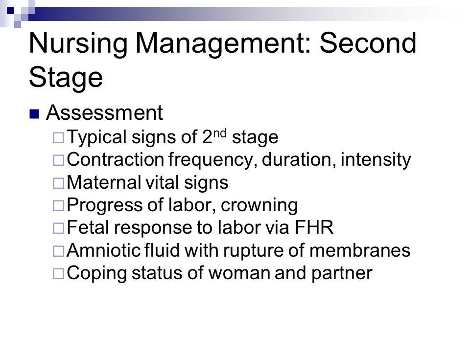 Nursing Management: Second Stage
