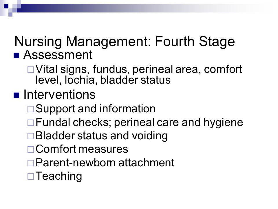 Nursing Management: Fourth Stage