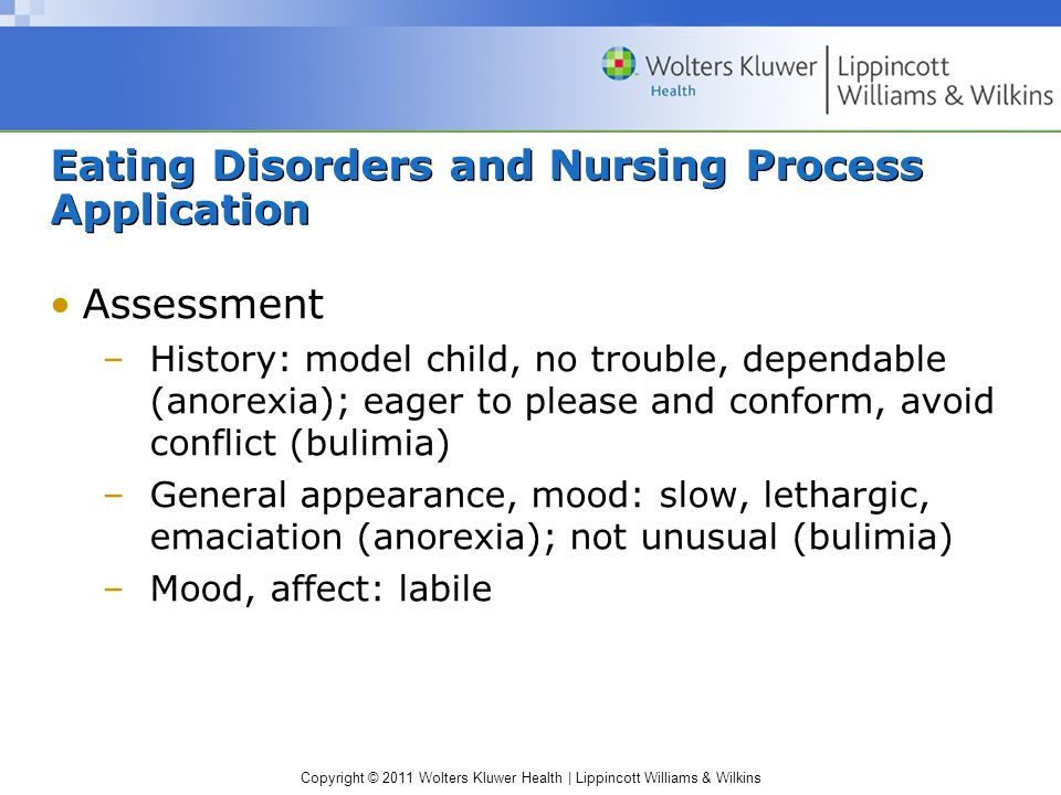Eating Disorders and Nursing Process Application