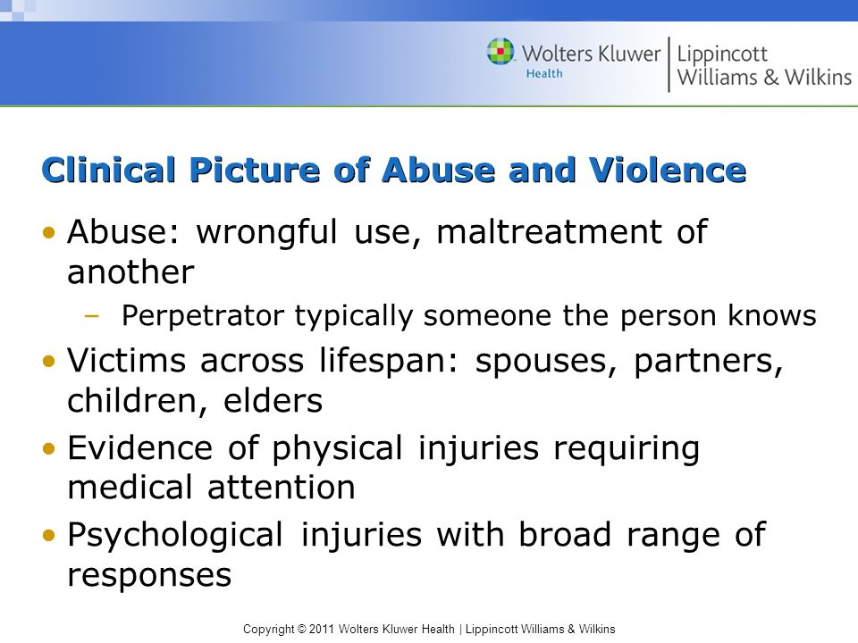 Clinical Picture of Abuse and Violence