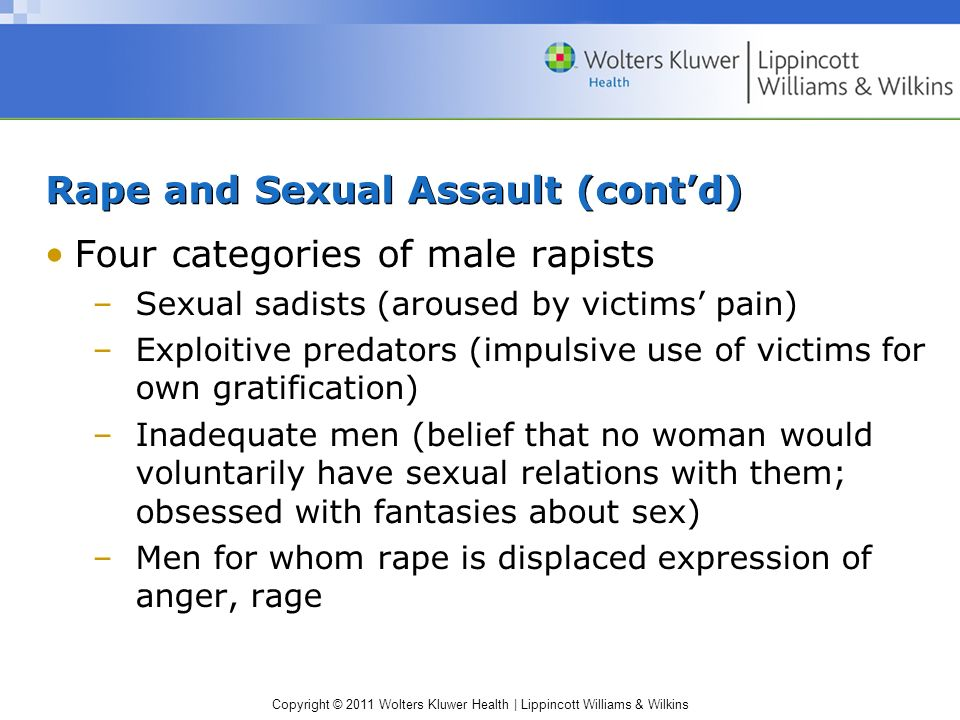 Rape and Sexual Assault (cont'd)