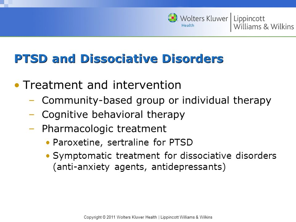 PTSD and Dissociative Disorders