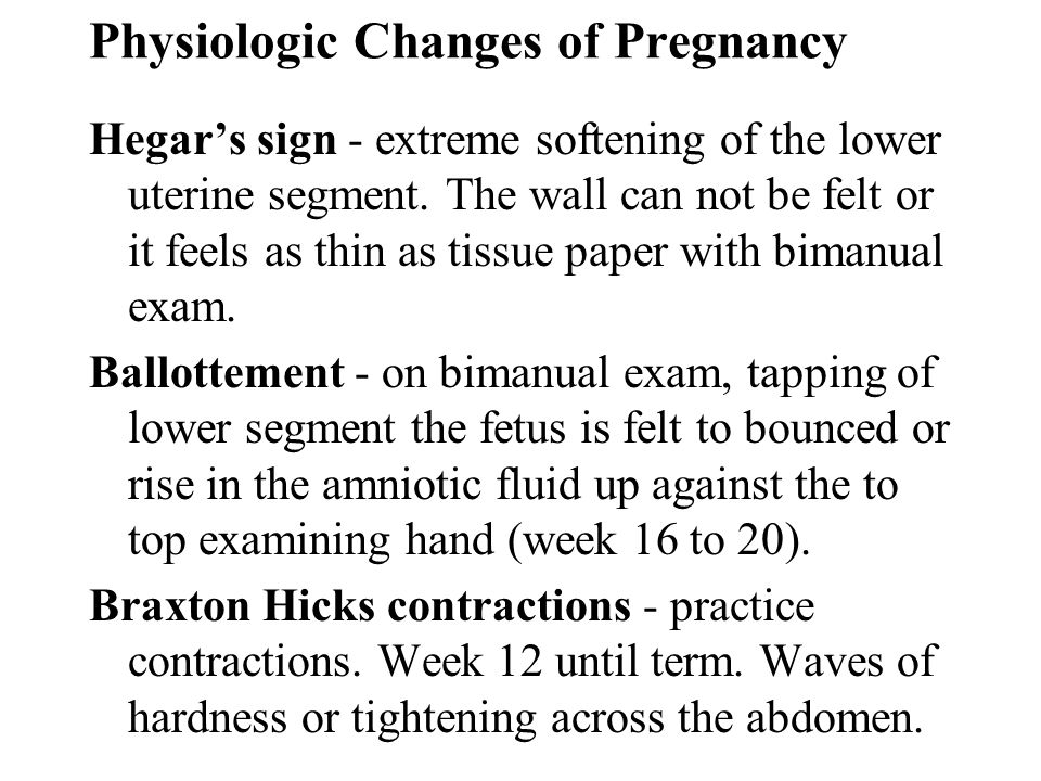 Physiologic Changes of Pregnancy