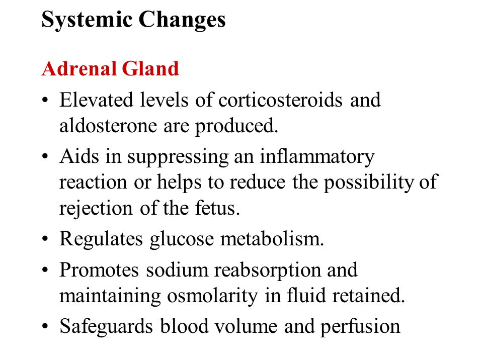 Systemic Changes Adrenal Gland