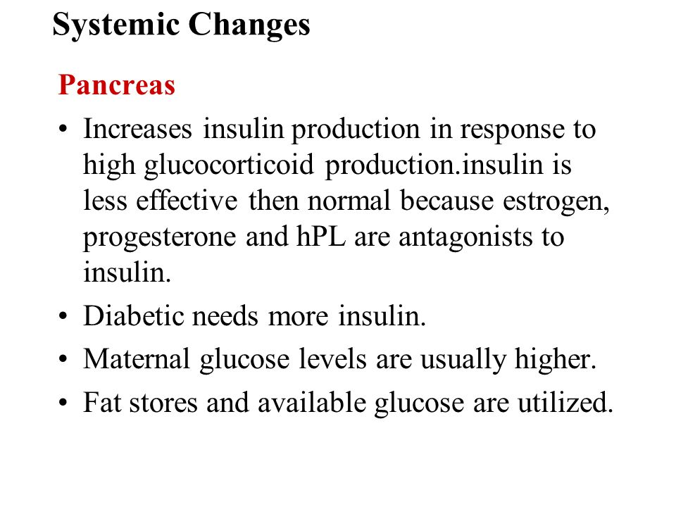 Systemic Changes Pancreas