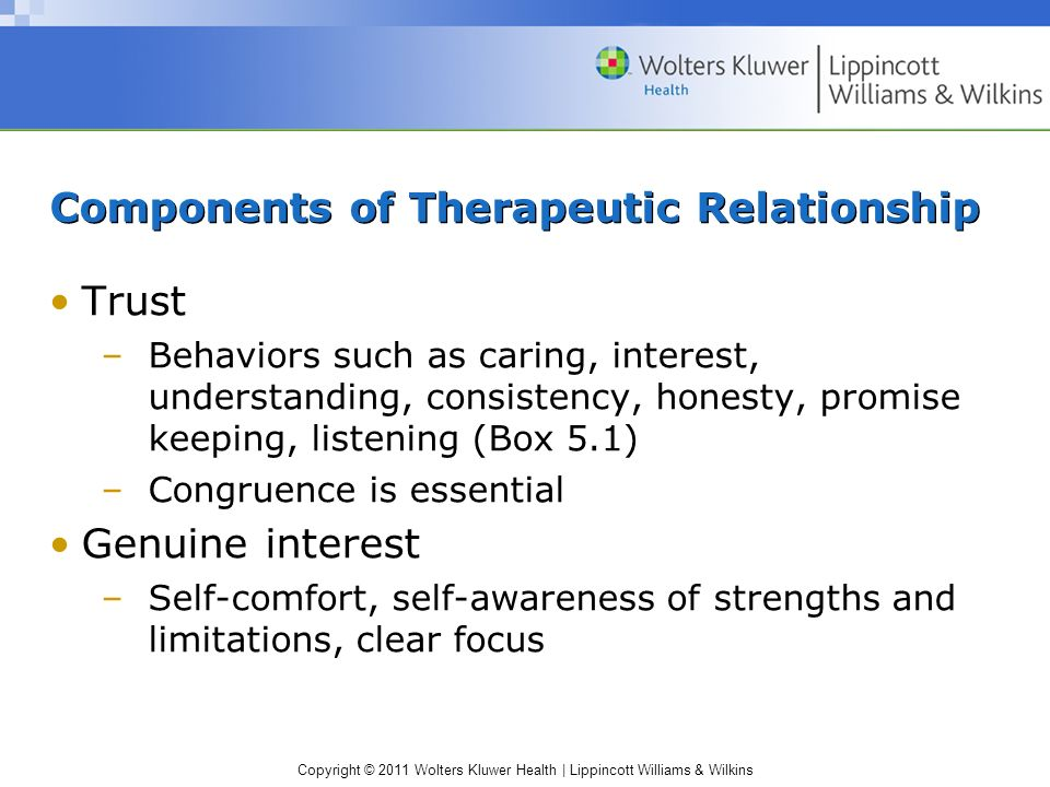 Components of Therapeutic Relationship