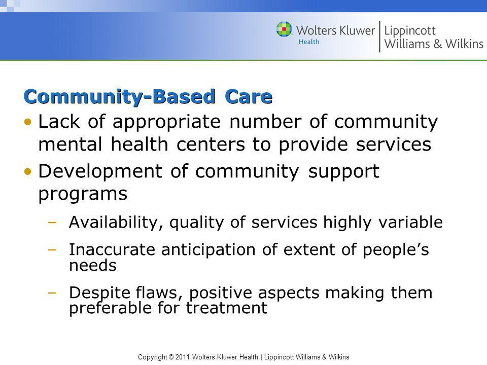 Development of community support programs