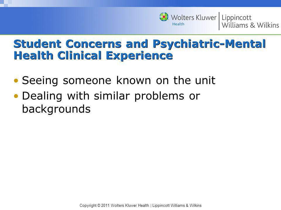 Student Concerns and Psychiatric-Mental Health Clinical Experience