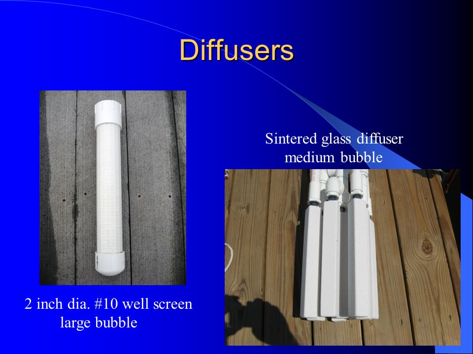 Diffusers Sintered glass diffuser medium bubble