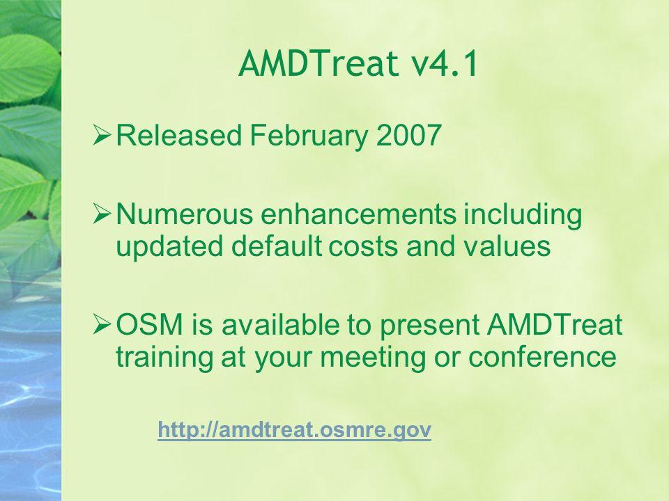 AMDTreat v4.1 Released February 2007