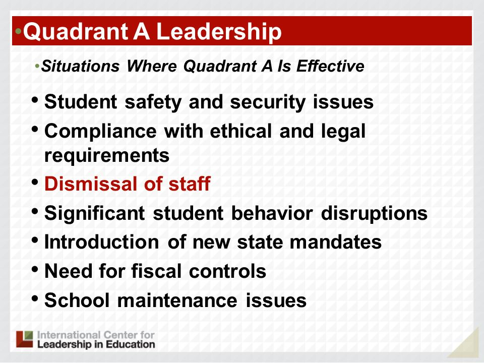 Quadrant A Leadership Student safety and security issues