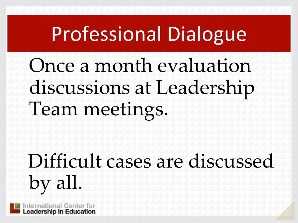 Professional Dialogue