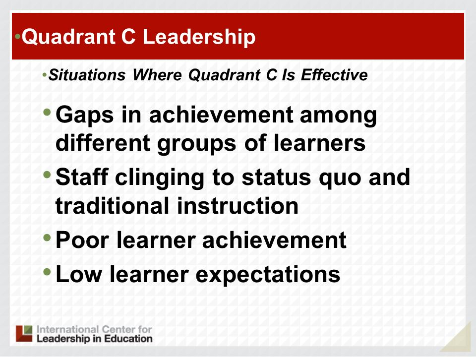 Gaps in achievement among different groups of learners