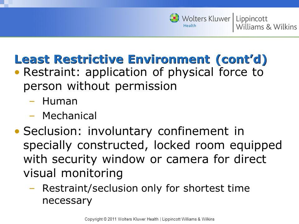 Least Restrictive Environment (cont'd)