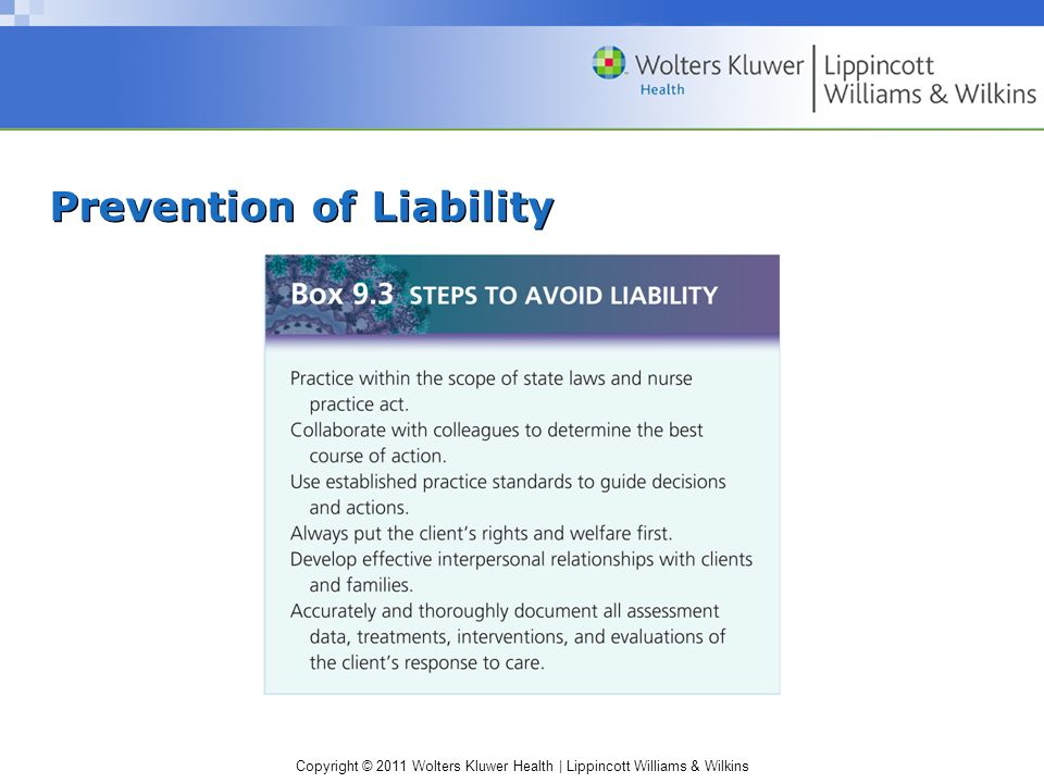 Prevention of Liability