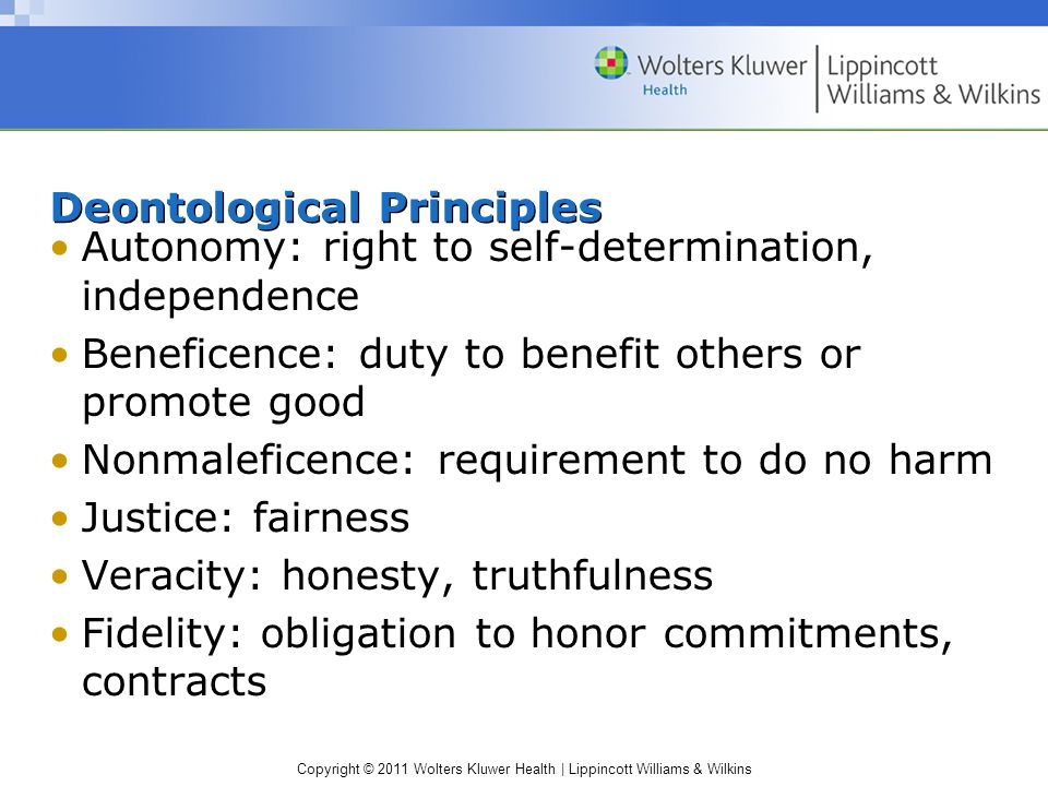 Deontological Principles