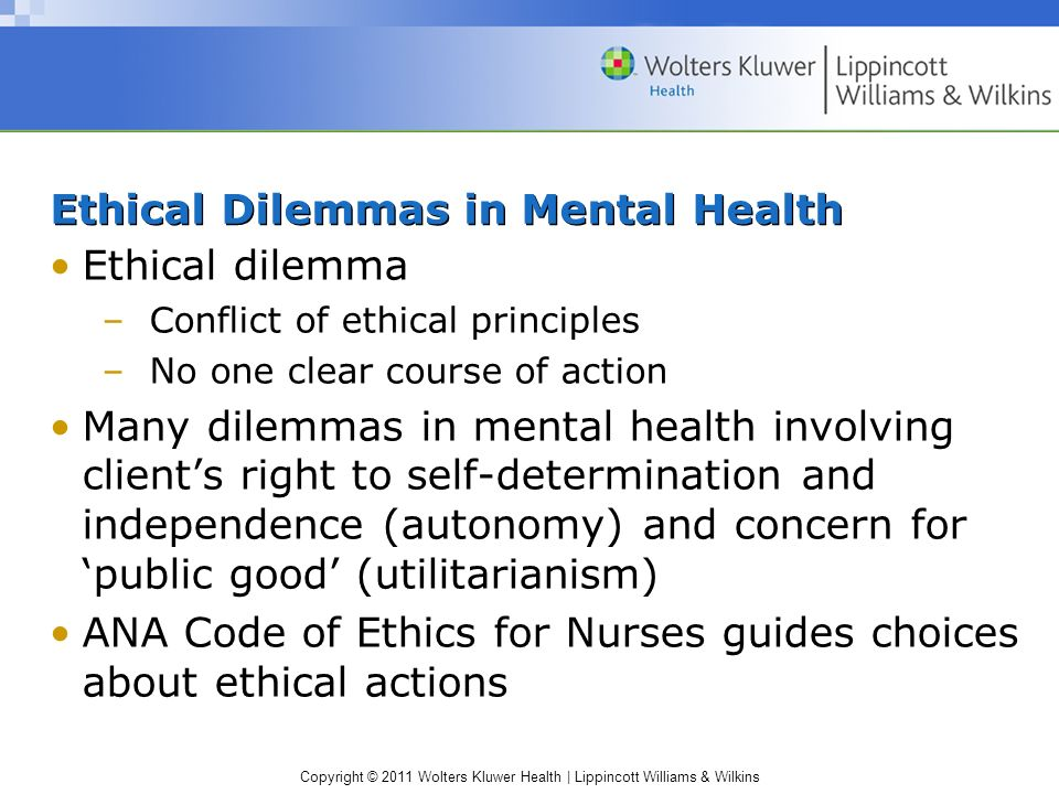 Ethical Dilemmas and Morals