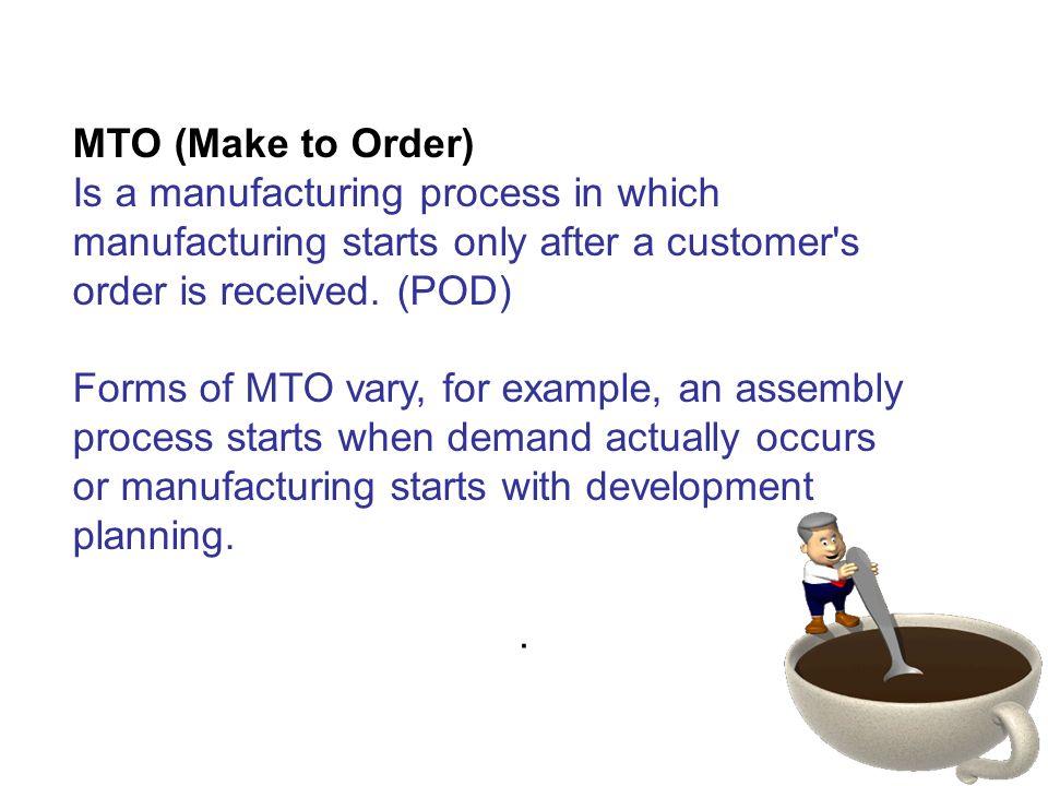 Morning Meeting MTO (Make to Order)