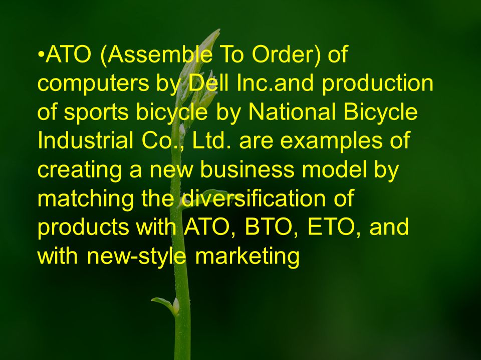 ATO (Assemble To Order) of computers by Dell Inc