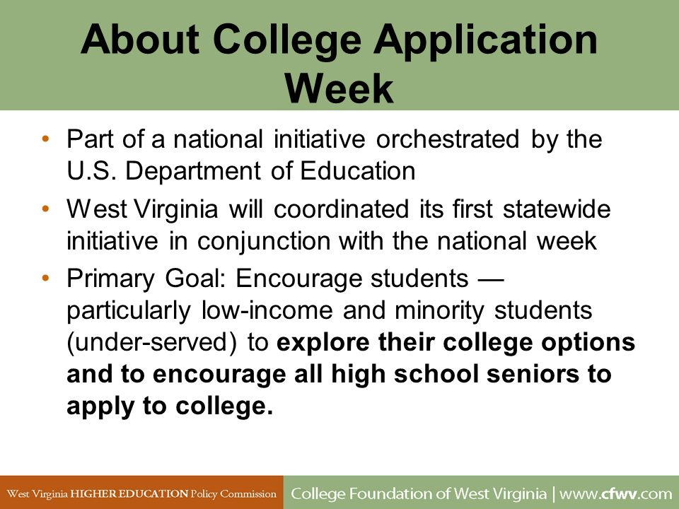 About College Application Week