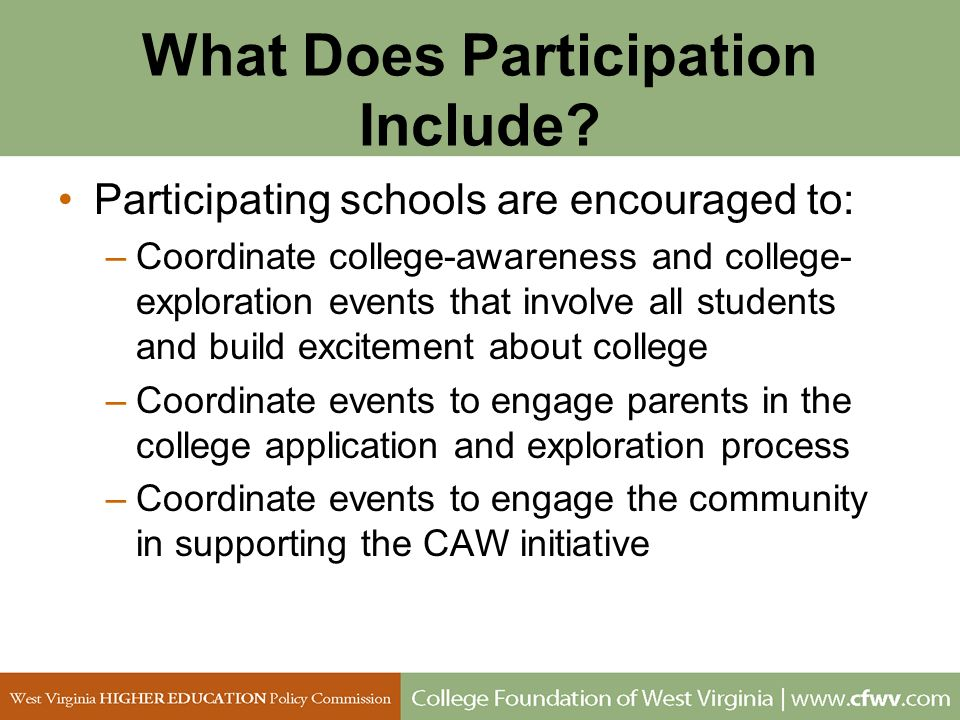 What Does Participation Include
