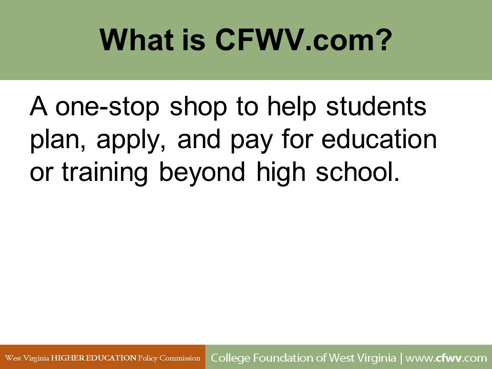 What is CFWV.com.