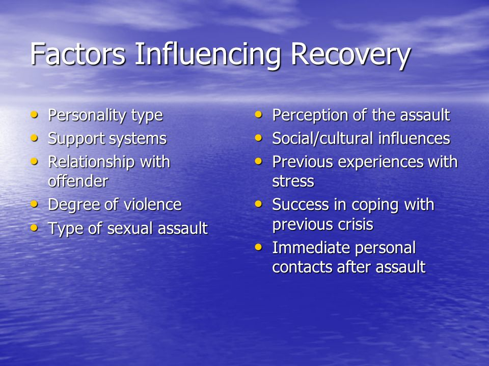 Factors Influencing Recovery