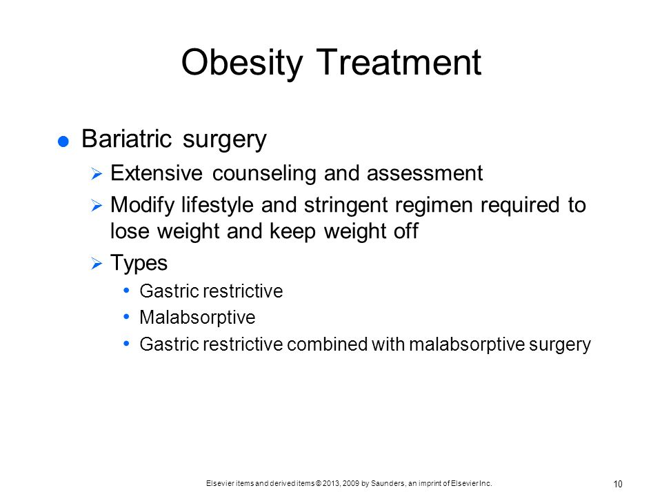 Obesity Treatment Bariatric surgery